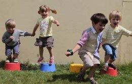 Outdoor play at Montessori Cookham nursery and daycare