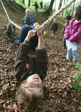 Forest school child
